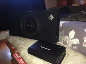 Rockford Fosgate Slim Sub woofer and Amplifier.