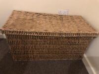 Next wicker basket/ blanket box/ toy box