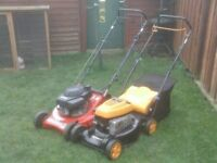 PETROL MOWERS WITH GRASS BOXS £35 EACH