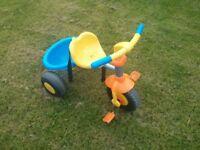 Trike with detachable parent handle.