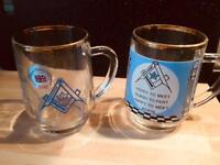 Pair of vintage mugs.