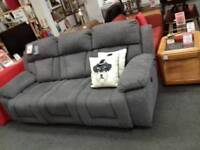 Brilliant grey fabric electric reclining sofa