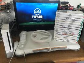 Nintendo Wii console fit board and loads of games
