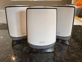 NETGEAR Orbi Mesh WiFi System (RBK853) - Wifi 6 Mesh Router with 3 Satellite Extenders