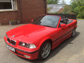 Red 1996 BMW Covertible