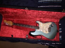 Fender stratocaster USA lone star strat 50th Anniversary ,metallic pastel green with case