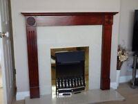 Mahogany/Rosewood Finish Dark Wood Mantlepiece Fire Surround