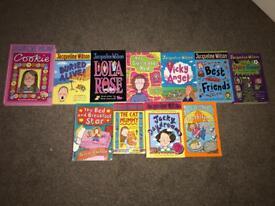Various Jacqueline Wilson books