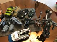 Transformers figures and robot fighters