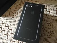 Apple iphone 7jet black 128GB only box £8