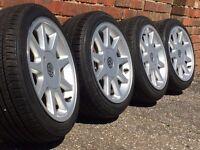 TTE Borbet alloy wheels, 4x100 vw lupo caddy seat arosa fox etc, 4x100 slammed
