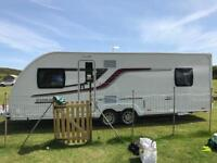 IMMACULATE 2017 SWIFT CORNICHE 21/4 CARAVAN, 4 BERTH, END BEDROOM & AWNING