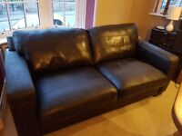 Brown Leather Sofa - free to collect