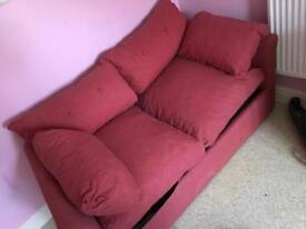 Sofabed double with mattress metal pull out