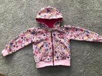 Girls converse hooded jacket age 2-3 years