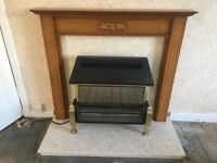 Dimplex fire and fireplace for sale. Excellent condition.