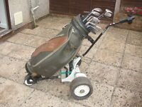 Electric Golf Trolley, Bag and Full set of Ladies Golf Clubs
