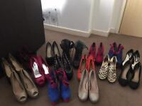 Heels £10 each sizes 5/6/7 depends on shoes