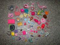Barbie Doll Large Accessories Bundle Inc food items,bags, brushes, bike, pets
