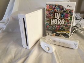 Nintendo wii and DJ hero game