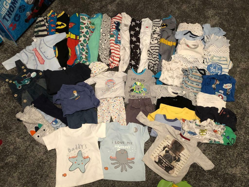 51d668034 HUGE bundle of baby boys clothes. Newborn   first size   0-3   3-6 ...