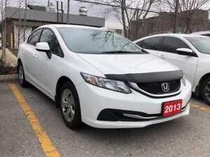2013 Honda Civic LX  one owner  Honda Canada lease r
