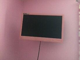 Pink tv DVD combi