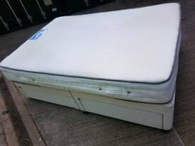 Double size bed mattress and 4 drawers