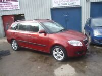 Skoda FABIA 3 16v 85,1390 cc Estate,FSH,runs and drives as new,good mpg,low mileage,only 49000 miles