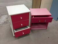 bedsides for sale - pink - £29 each! Bargain!
