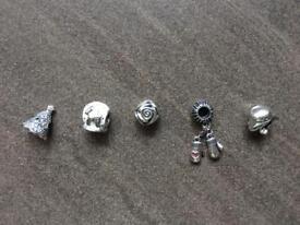 Genuine Pandora charms, 5 different designs