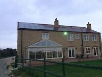 conservatory roof 15' x 12' (argon filled blue tint glass panels) - can deliver