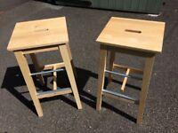 2 IKEA Bosse Bar Stools - hardly used - price reduced