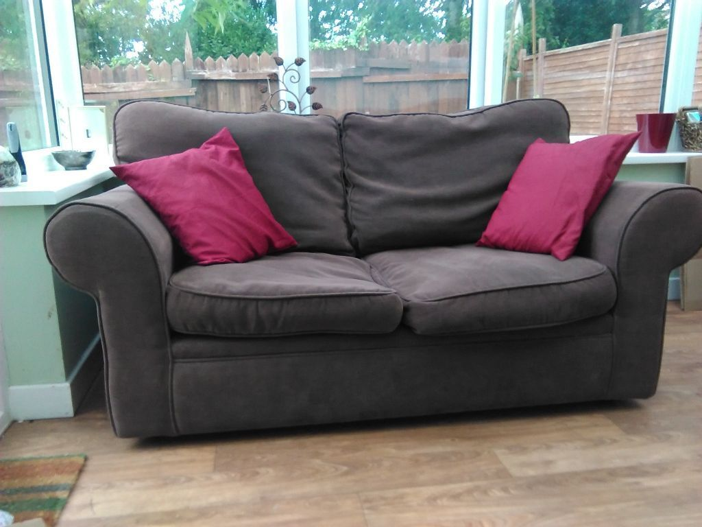 Brown 2 seater sofa for sale in exeter devon gumtree for 2 seater chaise sofa for sale