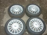 4 ford 15inch alloy wheel and tyres puma, escort, fiesta, focus 4 stud