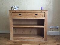 Next Solid Oak Furniture 1. Wide TV Unit, 2. Display Shelf Units