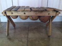 Original African Handcarved 8 Note Glockenspiel With Vegetables