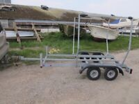 GALVANISED TRAILER FOR 2X M/CYCLES/SMALL BILGE KEEL BOAT/CLASSIC CAR