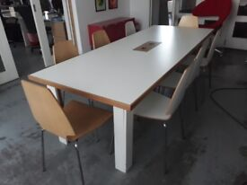 Handmade Meeting Table with 8x IKEA chairs