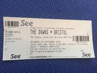1 ticket for 'The Downs Festival' Bristol