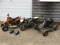Kids Quad bikes x2 and Mini Moto