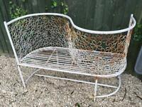 Shabby Chic Metal Lovers/Kissing Seat