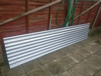 Metal Roofing sheets light grey