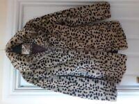 Ladies leopard print coat