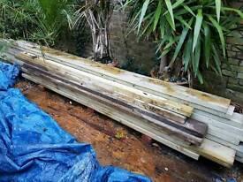 Tanalised joist timbers