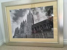 Pair of Silver Framed Black & White Photographs/Pictures of Truro