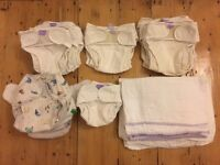Reusable nappy set (21x Bambino Mio nappies + linings), used, good condition, £30 ono
