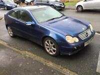 2002 MERCEDES BENZ C230 KOMPRESSOR EVO PAN ROOF BLACK LEATHER AUTO MOT C200 C220 C180