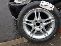 honda alloy wheel with brand new tyre