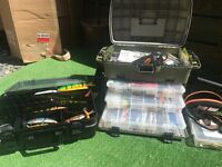 Pike fishing full lure set up savage gear fox rapala rods reels net bags boxes etc swap air rifle